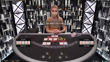 Live Poker from Evolution at Betway Casino