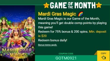 Play the Game of the Month at Fair Go Casino