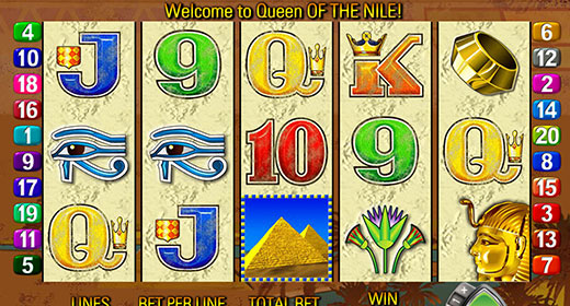 Queen of the Nile In-Game