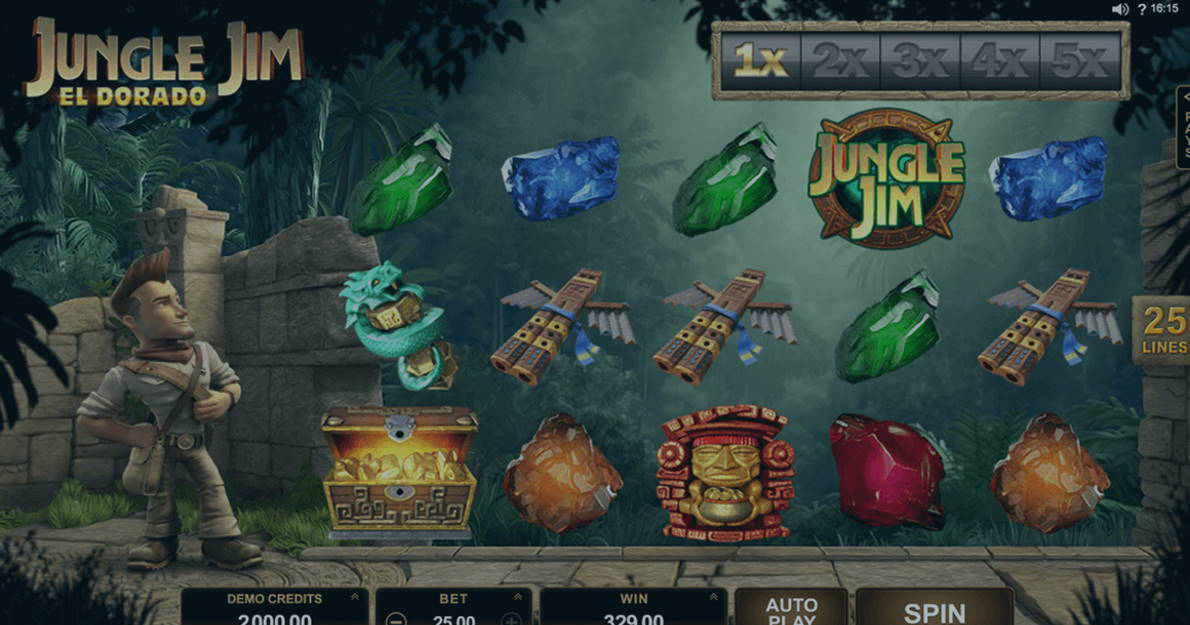 Play Jungle Jim El Dorado demo version for free