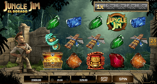 Jungle Jim El Dorado slot layout