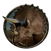 Jurassic Park Video Slot Payout Table - symbol Triceratops