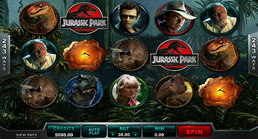 Jurrasic Park slot game