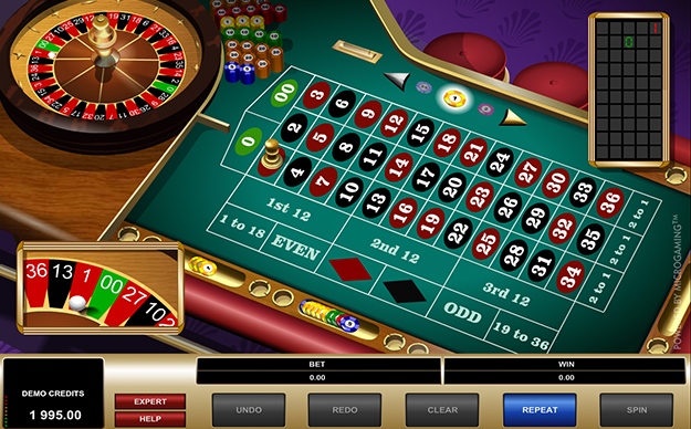 American roulette by Microgaming gameplay view