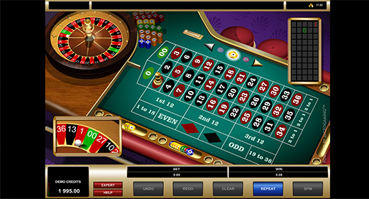 American Roulette by Microgaming game preview