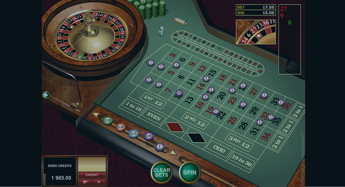 Play European Roulette Gold by Microgaming for free