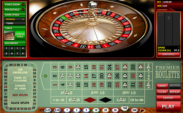 The gameplay of the Microgaming's Premier Roulette