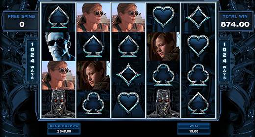 Terminator 2 slot layout