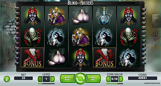 Blood Suckers slots layout