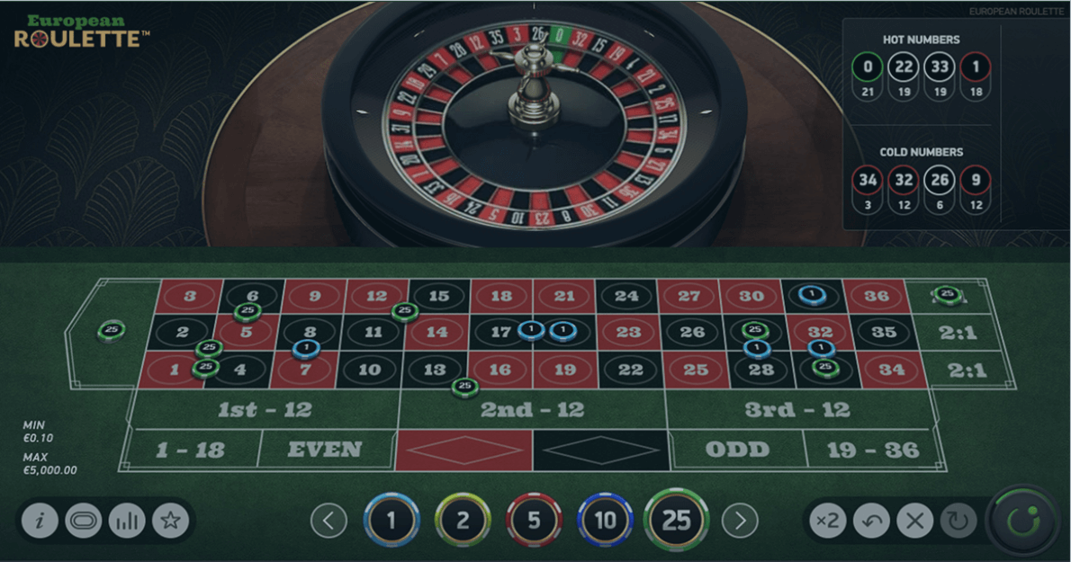 Play European Roulette by NetEnt for free