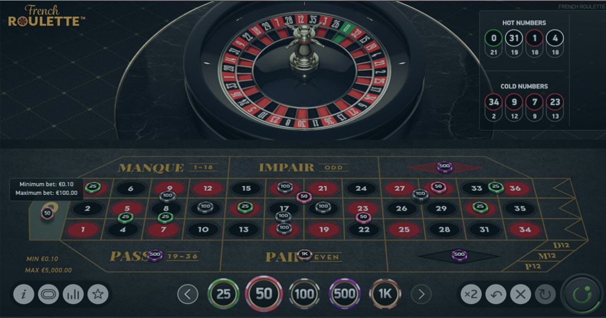Play French Roulette by NetEnt for free