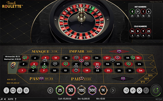 French Roulette by NetEnt gameplay