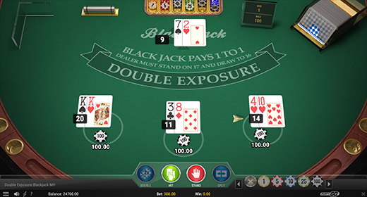 Double Exposure Blackjack Multihand by Play'n GO game preview