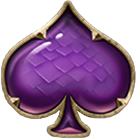 Dragon Maiden Payout Table - symbol Purple Spades