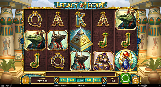 Legacy of Egypts slots layout