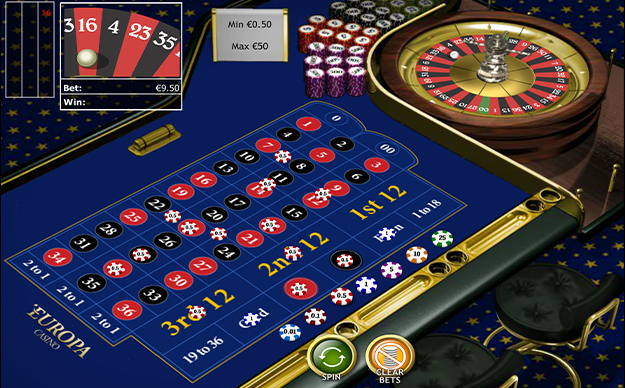 American roulette gameplay view
