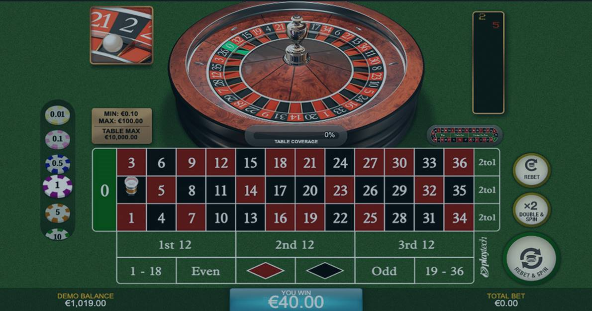 Play European Roulette by Playtech for free