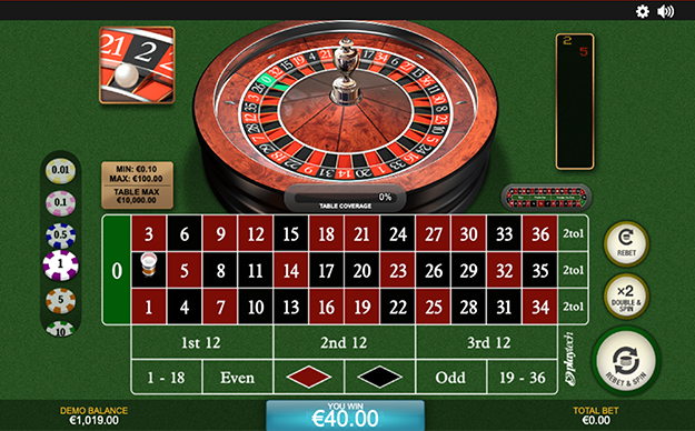 European Roulette by Playtech gameplay