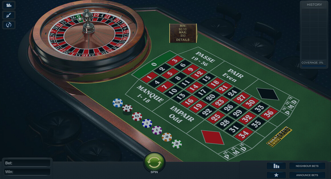 Play Premium French Roulette by Playtech for free