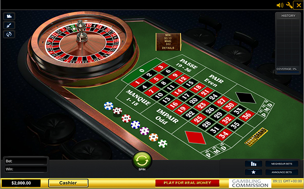 Premium French Roulette by Playtech gameplay