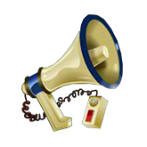 Cash Bandits Payout Table - symbol Megaphone