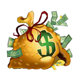 Cash Bandits Payout Table - symbol Money Bag