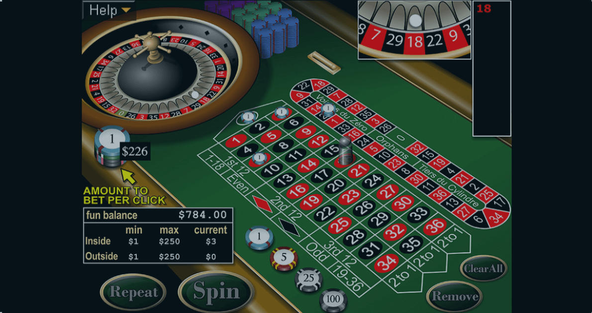Play European Roulette by RealTime Gaming for free