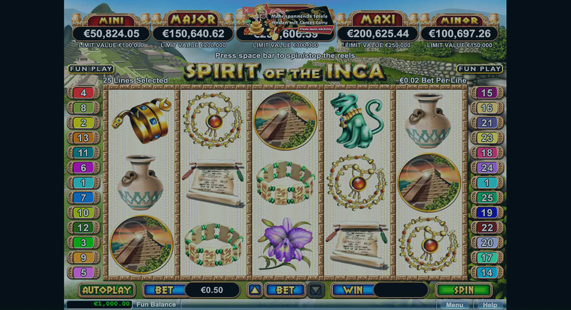 Play Spirit of the Inca demo version for free