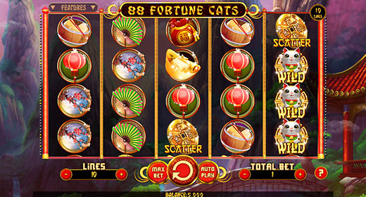 88 Fortune Cats In-Game