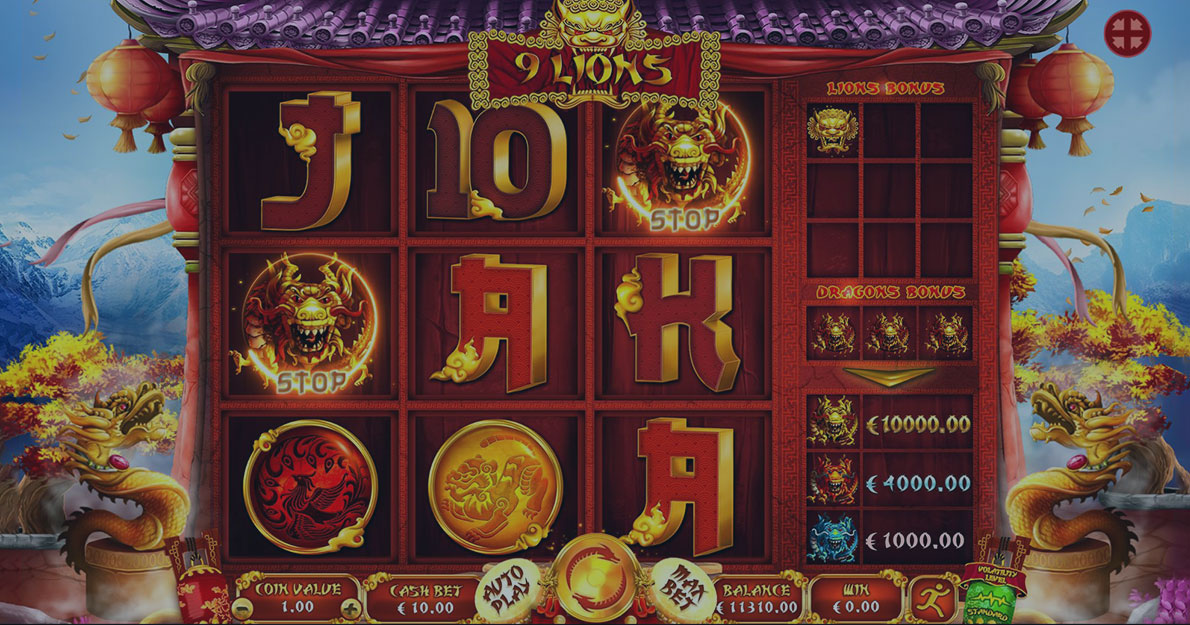 Play 9 Lions Slot demo for free