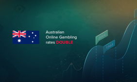 The online gambling in Australia has doubled in one decade