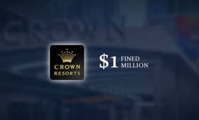 Crown Resorts has been handed a $1 million fine