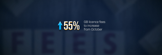 UK license fees will go up with 55%