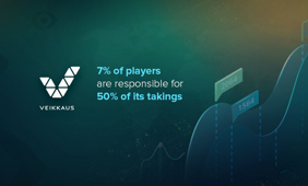 50% of Veikkaus revenue comes from just 7% of its 1.7 million players